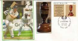 Test Cricket Between England And Australia. , Entier Postal Australia - Cricket