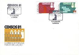 PORTUGAL - CENSUS 81 - FDC (Postmark - Lisboa) - Marcophilie