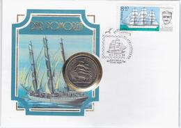 Poland 1980 Dar Pomorza, Canceled In Gdynia 1984, Numisbriefe Coin Ship Ships - FDC