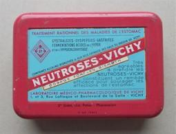 - Boite Métal. NEUTROSES VICHY - Pharmacie - - Matériel Médical & Dentaire