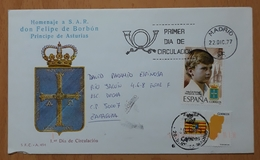 ESPAÑA CARTA CIRCULADA. - 1931-Hoy: 2ª República - ... Juan Carlos I