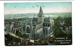 CPA - Carte Postale Royaume Uni - Rochester-- Cathedral & St Nicholas Church 1908- VM2445 - Rochester