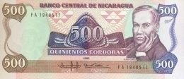 Nicaragua 500 Cordobas, P-155 (1985) - UNC - Nicaragua