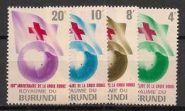 Burundi - 1963 - N°Mi. 59 à 62 - Croix Rouge - Neuf Luxe ** / MNH / Postfrisch - Burundi
