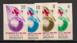 Burundi - 1963 - N°Mi. 59B à 62B - Croix Rouge - Non Dentelé / Imperf. - Neuf Luxe ** / MNH / Postfrisch - 1962-69: Neufs