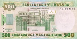 Rwanda 500 Francs, P-34 (1.2.2008) - UNC - Ruanda