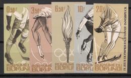 Burundi - 1964 - N°Mi. 80B à 84B - Innsbruck / Olympics - Non Dentelé / Imperf. - Neuf Luxe ** / MNH / Postfrisch - Winter 1964: Innsbruck