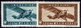 Indochina. Sc #C27-C28. Air Mail. Mint. ** - Indochina (1889-1945)