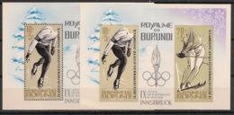 Burundi - 1964 - N°Mi. Bloc 3 + 3B - Innsbruck / Olympics - Neuf Luxe ** / MNH / Postfrisch - Winter 1964: Innsbruck