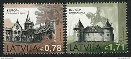 """LETONIA/ LATVIA / LETTLAND -EUROPA-CEPT 2017.-TEMA:""""CASTILLOS -CASTLES -SCHLÖSSER"""".-SERIE  2 V. - 2017"""