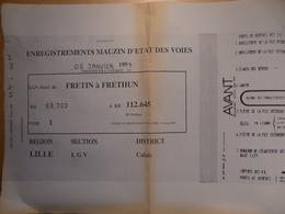 Enregistrement Mauzin D'état Des Voies  Janvier 1994 Ligne Grande Vitesse SNCF Train Chemin De Fer - Chemin De Fer & Tramway
