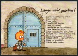 C4764 - TOP Windel Winni - Scherzkarte Humor - Knast Gefängnis - Humor