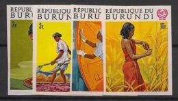 Burundi - 1969 - N°Mi. 488B à 491B - OIT - Non Dentelé / Imperf. - Neuf Luxe ** / MNH / Postfrisch - Burundi