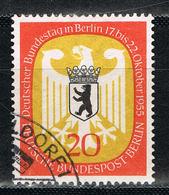 Berlin 130 Gestempelt - 20 Pf. Bundestag In Berlin 1955 - Oblitérés