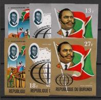 Burundi - 1972 - N°Mi. 869B à 874B - Indépendance - Non Dentelé / Imperf. - Neuf Luxe ** / MNH / Postfrisch - Burundi