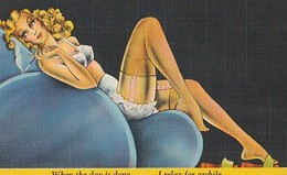 """Pin-Ups - """"When The Day Is Done/ And My Work Is Through/ I Relax For Awhile/ And Dream Of You"""" - Ed. Curt Teich & Co. - Pin-Ups"""