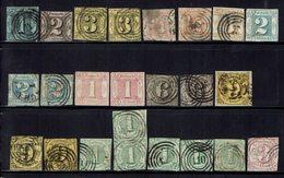 Allemagne - Tour & Taxis - 1850-52 - Lot De 43 Timbres Oblitérés - - Thurn Und Taxis