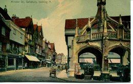 WILTS - SALISBURY - MINSTER STREET LOOKING N 1907 Wi341 - Salisbury