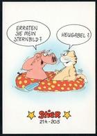 C4773 - TOP Scherzkarte Humor - Sternzeichen Stier - Cartoon - Uli Stein & Koch - Humor