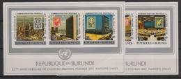 Burundi - 1977 - N°Mi. Bloc 101B Et 102B - Poste / ONU - Non Dentelé / Imperf. - Neuf Luxe ** / MNH / Postfrisch - Burundi