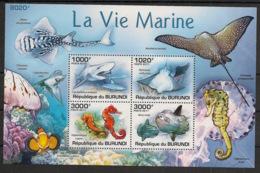 Burundi - 2011 - Bloc BF N°145 - Faune Marine - Neuf Luxe ** / MNH / Postfrisch - Cote 18€ - Mammifères Marins