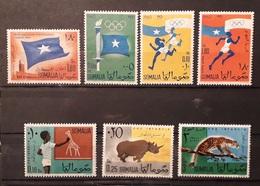 Somalia 1960 Lotto Indipendenza Olimpiadi Animals Mnh - Somalia (1960-...)