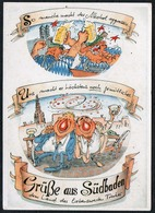 C4779 - Chrsitoph Häringer - Scherzkarte Humor - Alkokol Betrunken Baden Baden - Humor