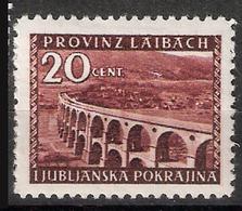 Provinz Laibach - Slovenia 1945  Franzdorf Viaduct, Ljubliana, Mi 47, MH(*) - Slovenia