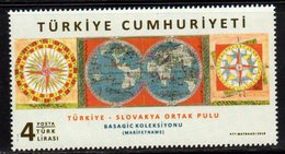 TURKEY, 2018, MNH,JOINT ISSUE WITH SLOVAKIA, OLD MAPS, 1v - Joint Issues