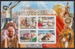 Burundi - 2011 - Bloc BF N°180 - Jean-Paul II - Non Dentelé / Imperf. - Neuf Luxe ** / MNH / Postfrisch - Cote 18€ - Papi