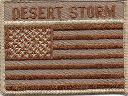 """Ecusson Tissu """" Desert Storm """"  Iraq 1991 - Scudetti In Tela"""