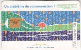 """Lot De 1 TC De 1994 Usagées """"Ministère De L'Economie"""" 50 U. Y & T : 543 - France"""