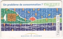 """Lot De 1 TC De 1994 Usagées """"Ministère De L'Economie"""" 120 U. Y & T : 544 - France"""
