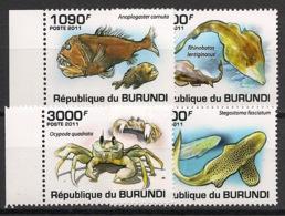 Burundi - 2011 - N°1177 à 1180 - Faune Marine - Neuf Luxe ** / MNH / Postfrisch - Cote 18€ - Mammifères Marins
