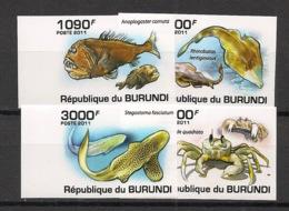 Burundi - 2011 - N°1177 à 1180 - Faune Marine - Non Dentelé / Imperf. - Neuf Luxe ** / MNH / Postfrisch - Cote 18€ - Mammifères Marins