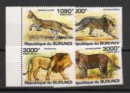 Burundi - 2011 - N°1189 à 1192 - Félins - Neuf Luxe ** / MNH / Postfrisch - Cote 18€ - Felini