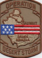 "Ecusson Tissu "" Opération Desert Storm ""  Iraq 1991 - Scudetti In Tela"