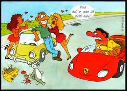 C4784 - TOP Scherzkarte Humor - Auto Macho - Humor