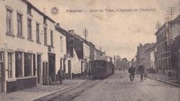 Fleurus Arrêt Du Tram ( Chaussée De Charleroi ) Circulée En 1921 - Fleurus