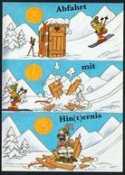 C4786 - TOP Scherzkarte Humor - Skifahren Ski - Cartoon - Humor