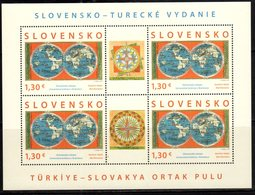SLOVAKIA, 2018, MNH,JOINT ISSUE WITH TURKEY, OLD MAPS, SHEETLET OF 4v - Joint Issues