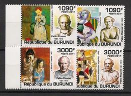 Burundi - 2011 - N°1309 à 1312 - Picasso - Neuf Luxe ** / MNH / Postfrisch - Cote 18€ - Picasso