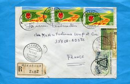 MARCOPHILIE-CONGO-lettre REC > Françe-  Cad Makabana 1982-5 Stamps N°341 Insect-abeille+533 P C T - Congo - Brazzaville