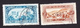 Lebanon, Scott #58-59, Used, Scenes Of Lebanon, Issued 1925 - Great Lebanon (1924-1945)