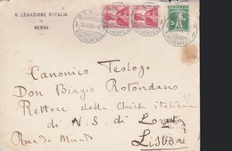 SUISSE - Legazione D'ITALIA In BERNA - RARA BUSTA DA BERNA A LISBONA - 1914. - Svizzera