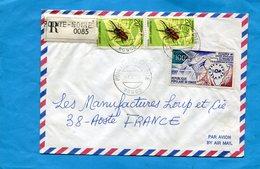 MARCOPHILIE-CONGO-lettre REC > Françe- Cad   1975-3 Stamps N°341 Insect-métopodontus - Congo - Brazzaville