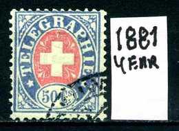 SVIZZERA - HELVETIA - Year 1881 - Viaggiato - Traveled - Voyagè - Gereist. - Telegrafo