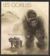 Burundi - 2012 - Bloc BF N°282 - Gorilles - Non Dentelé / Imperf. - Neuf Luxe ** / MNH / Postfrisch - Gorilles