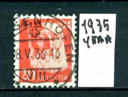 SVIZZERA - HELVETIA - Year 1935 - Viaggiato - Traveled - Voyagè - Gereist. - Franchigia
