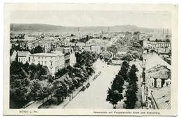 ALLEMAGNE : BONN A. RH. - KAISERPLATZ MIT POPPELSDORFER ALLEE UND KREUZBERG - Bonn